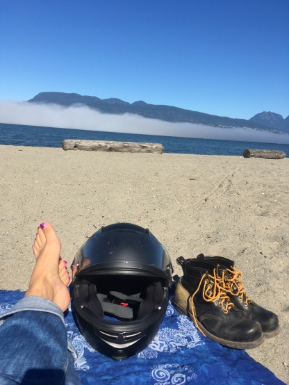 Last beach day of 2017, but certainly not the last riding day.