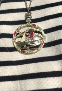 Sailboat pendant from a thrift store