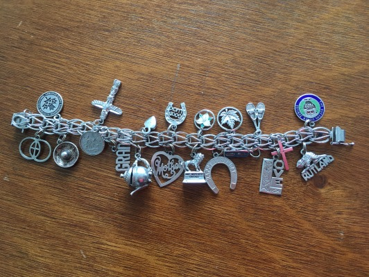 Real-deal old lady charm bracelet